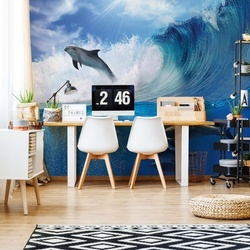 Dolphins Photo Wallpaper Wall Mural