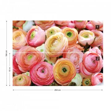 Flowers Peonies Photo Wallpaper Wall Mural