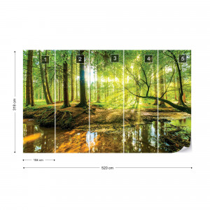 Forest Lake Photo Wallpaper Wall Mural