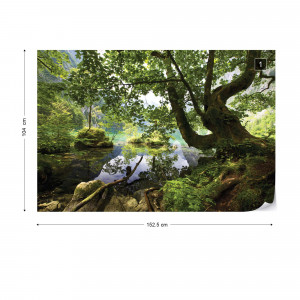 Forest Trees Lake Photo Wallpaper Wall Mural