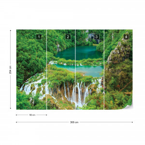 Forest Waterfalls Lakes Photo Wallpaper Wall Mural