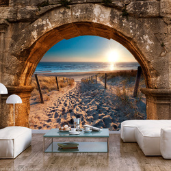 Fototapet - Arch and Beach