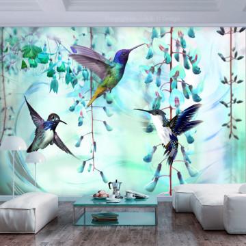 Fototapet autoadeziv - Flying Hummingbirds (Green)