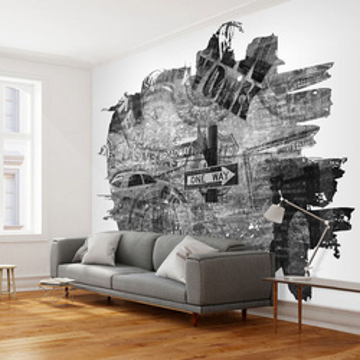 Fototapet - Black-and-white New York collage