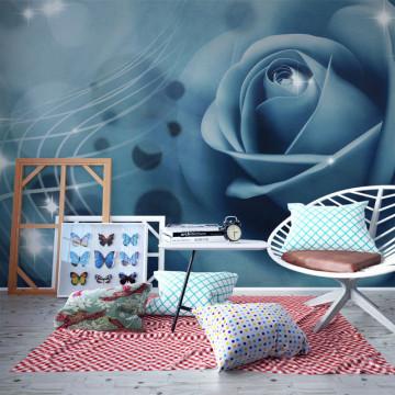 Fototapet - Blue rose