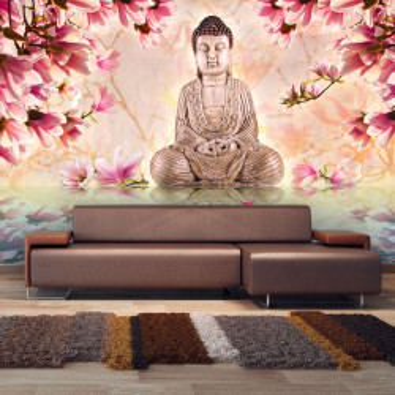 Fototapet - Buddha and magnolia