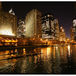 Fototapet - By the water, Chicago
