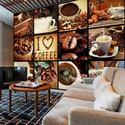 Fototapet - Coffee - Collage