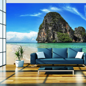 Fototapet - Exotic landscape in Thailand, Railay beach