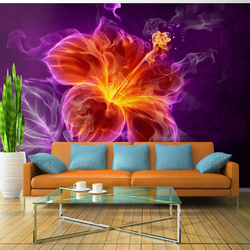 Fototapet - Fiery flower in purple