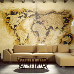 Fototapet - Gold-diggers' map of the World