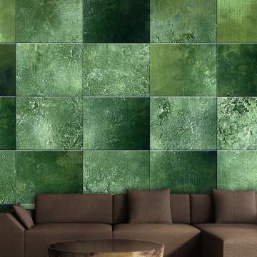 Fototapet - Green Puzzle