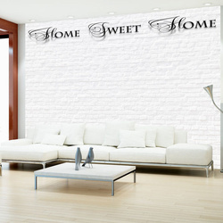 Fototapet - Home, sweet home - white wall