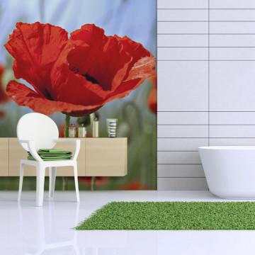 Fototapet - Intense red poppies