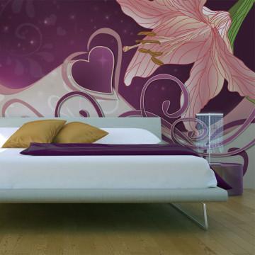 Fototapet - Lily in violets