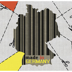 Fototapet - map - Germany (barcode)