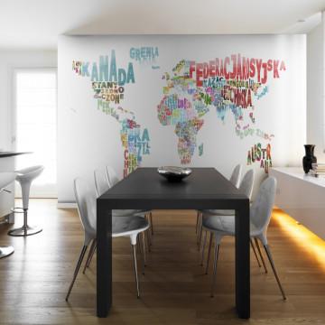 Fototapet - map - world (in polish)