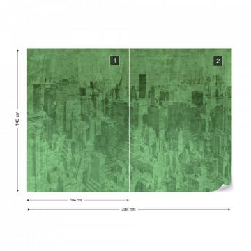 Fototapet - New York City – Efect Grafic Verde