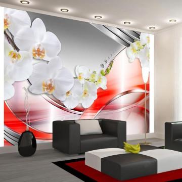Fototapet - Orange wave of orchids
