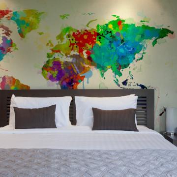 Fototapet - Paint splashes map of the World
