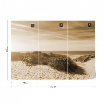 Fototapet - Plajă Sălbatică – Sepia