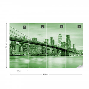 Fototapet - Podul Brooklyn NYC – Verde