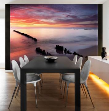Fototapet - Sunrise over the Baltic Sea