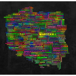 Fototapet - The map of Poland