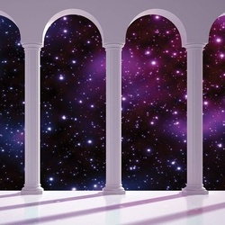 Galaxy 3D Archway View Photo Wallpaper Wall Mural