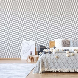 Geometric Pattern Grey Photo Wallpaper Wall Mural