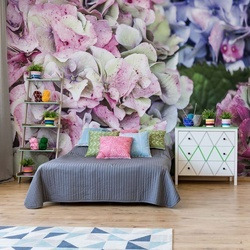 Hydrangea Flowers Photo Wallpaper Wall Mural