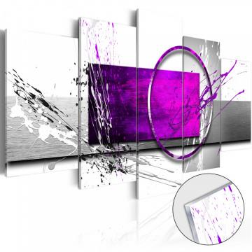 Imagine pe sticlă acrilică - Purple Expression [Glass]