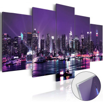 Imagine pe sticlă acrilică - Purple Sky [Glass]