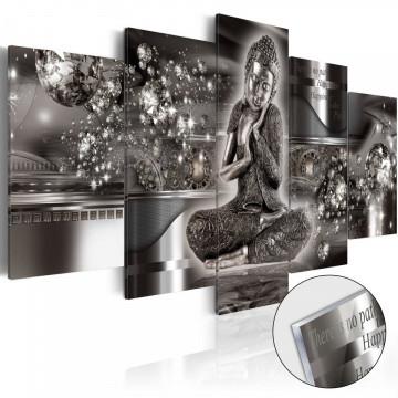 Imagine pe sticlă acrilică - Silver Serenity [Glass]