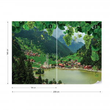 Lake Mountains Landscape Photo Wallpaper Wall Mural