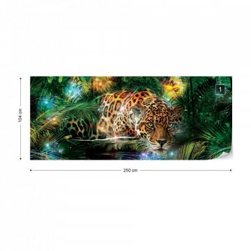Magical Jungle Jaguar Photo Wallpaper Wall Mural