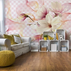 Magnolia Flowers Pink Photo Wallpaper Wall Mural