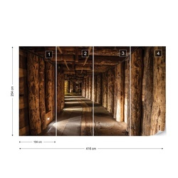 Mine Tunnel Photo Wallpaper Wall Mural