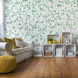 Modern Geometric Pattern Green Photo Wallpaper Wall Mural