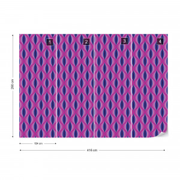 Modern Pattern Purple Pink Photo Wallpaper Wall Mural
