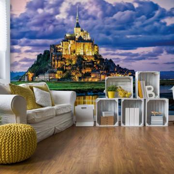 Mont Saint Michel Castle France Photo Wallpaper Wall Mural
