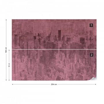 New York City Grunge I Pink