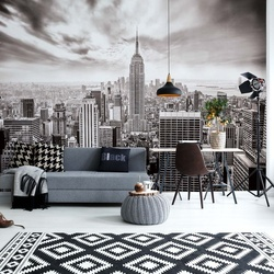 New York City Skyline Black And White Photo Wallpaper Wall Mural