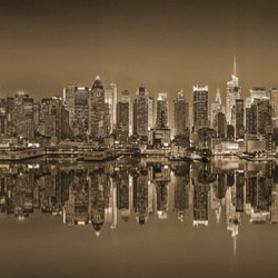 New York Reflections in Sepia