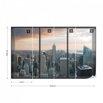 New York Skyline Window View Photo Wallpaper Wall Mural