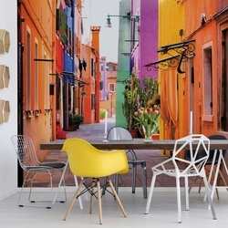 Old Colourful Street Photo Wallpaper Wall Mural