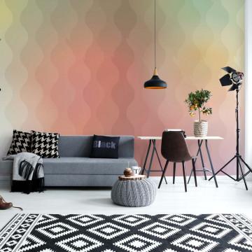 Orange And Peach Modern Gradient Pattern Photo Wallpaper Wall Mural