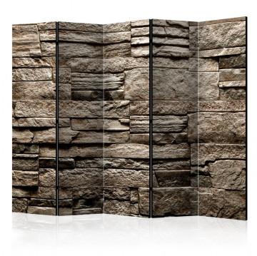 Paravan - Beautiful Brown Stone II [Room Dividers]