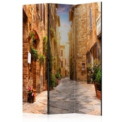 Paravan - Colourful Street in Tuscany [Room Dividers]