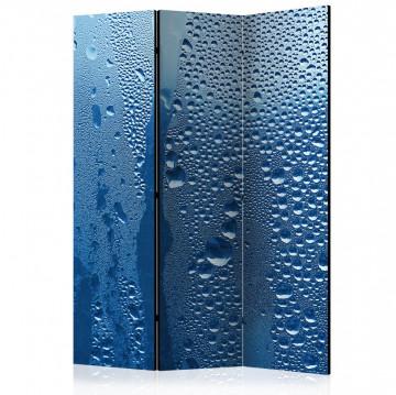 Paravan - Water drops on blue glass [Room Dividers]